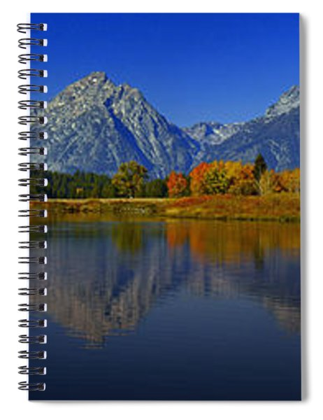 Tetons From Oxbow Bend Spiral Notebook