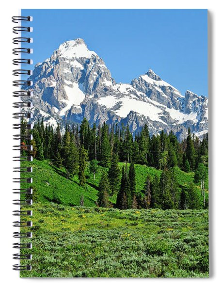 Tetons In Spring Spiral Notebook