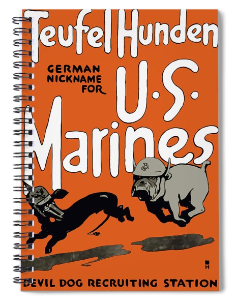 Teufel Hunden - German Nickname For Us Marines Spiral Notebook