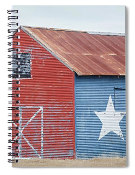 Texas Barn With Goats And Ram On The Side Spiral Notebook