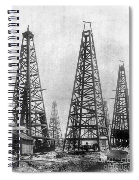 Texas: Oil Derricks, C1901 Spiral Notebook