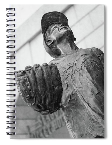 Spiral Notebook featuring the photograph Texas Rangers Little Boy Statue by Robert Bellomy