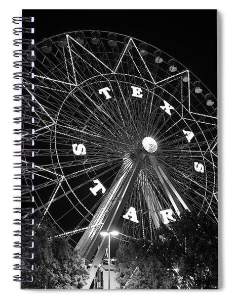 Texas Star 061116 V2bw Spiral Notebook