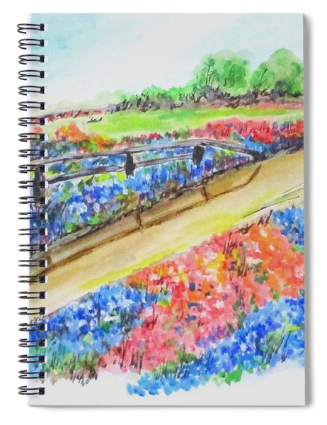 Texas Wild Flowers Spiral Notebook