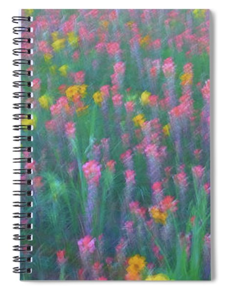 Spiral Notebook featuring the photograph Texas Wildflowers Abstract by Robert Bellomy