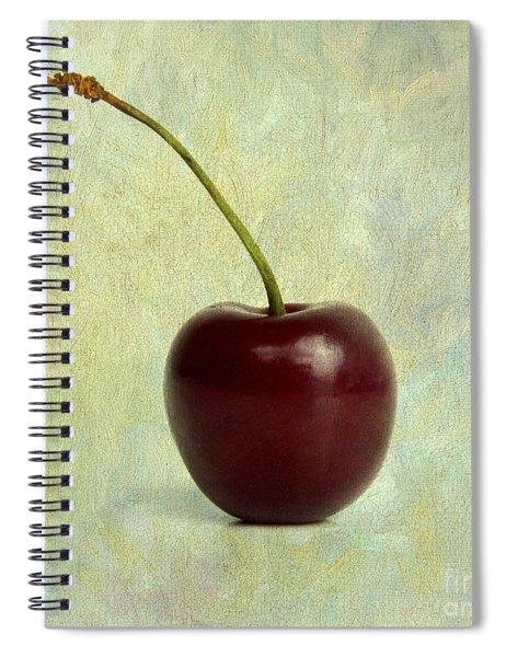 Textured Cherry. Spiral Notebook