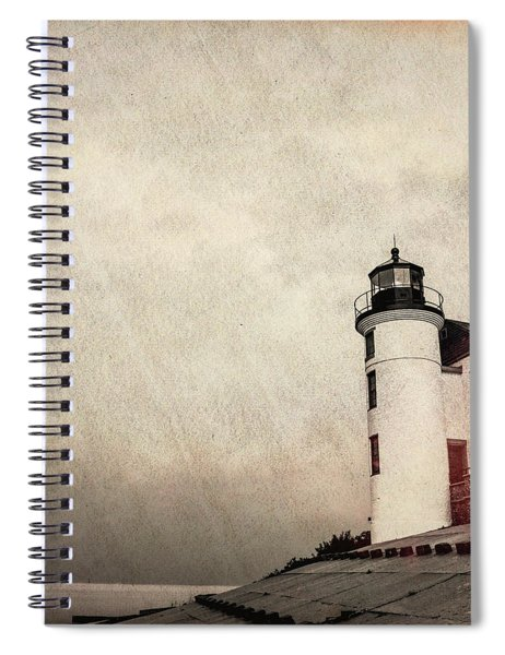 Textured Point Betsie Lighthouse Spiral Notebook