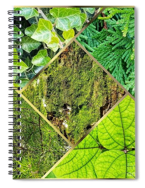 Textures In Shades Of Green Spiral Notebook
