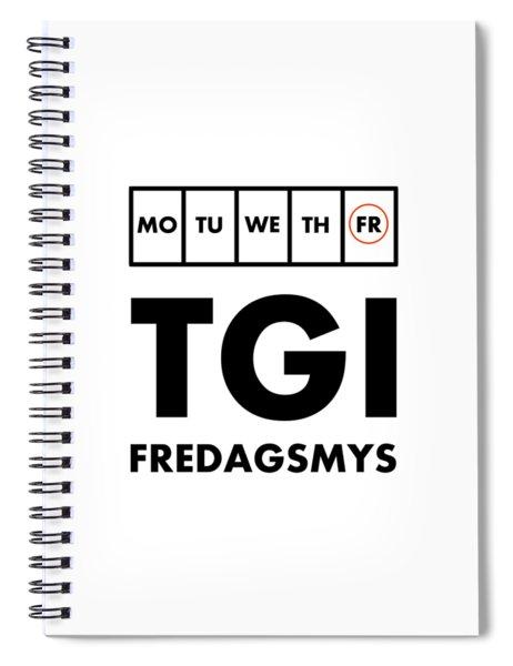 Tgi Fredagsmys Spiral Notebook