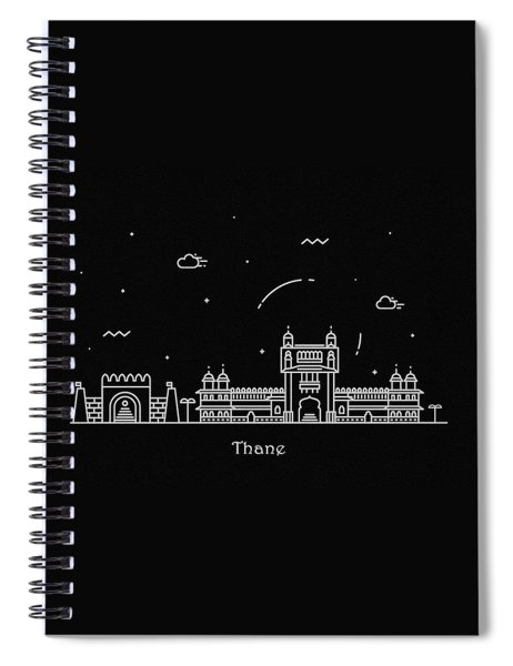 Thane Skyline Travel Poster Spiral Notebook