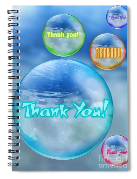 Thank You Bubbles Spiral Notebook