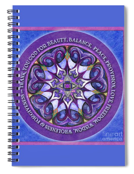 Thank You God Mandala Prayer Spiral Notebook