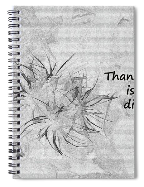Thanks Giving Spiral Notebook
