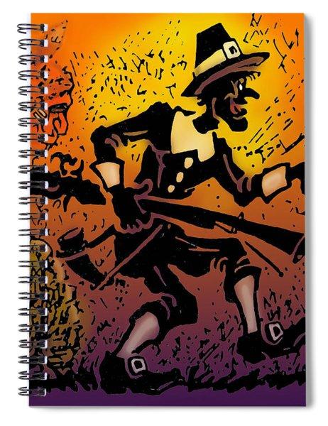 Thanksgiving Pilgrim Spiral Notebook