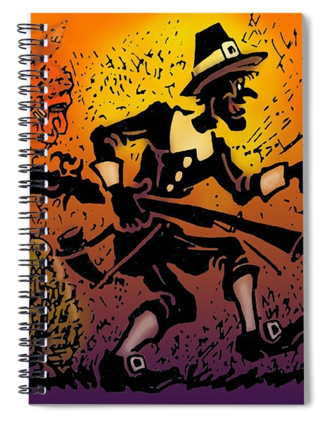 Thanksgiving Pilgrim Spiral Notebook