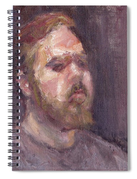 That Look - Contemporary Impressionist Portrait Spiral Notebook