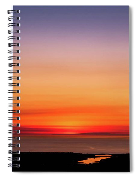 Spiral Notebook featuring the photograph That's A Wrap by Alison Frank