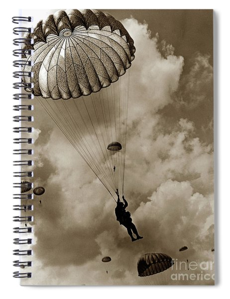 The 82nd Airborne  Hits The Silk Fort Ord 1953 Spiral Notebook