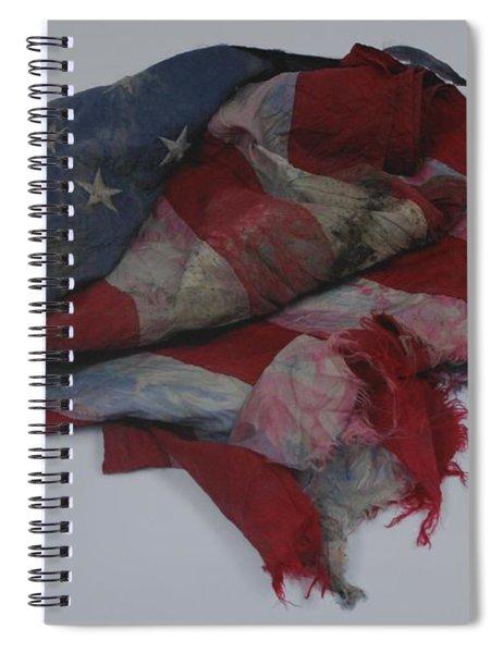 The 9 11 W T C Fallen Heros American Flag Spiral Notebook