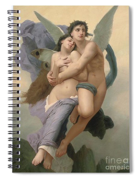 The Abduction Of Psyche Spiral Notebook