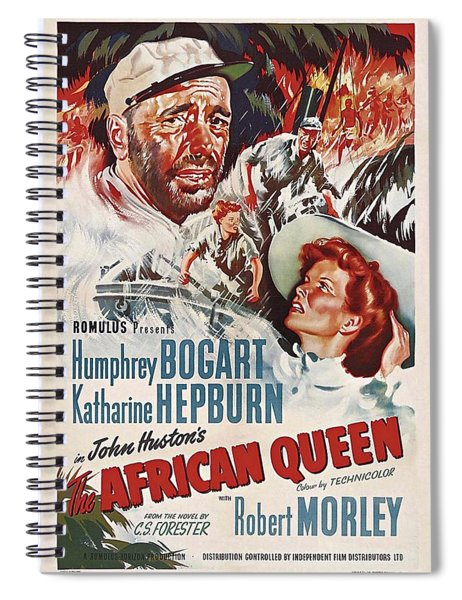 Spiral Notebook featuring the photograph The African Queen B by Movie Poster Prints