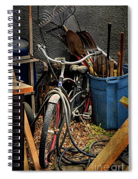 The Alley Bicycle Spiral Notebook