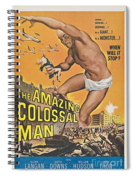 The Amazing Colossal Man Movie Poster Spiral Notebook