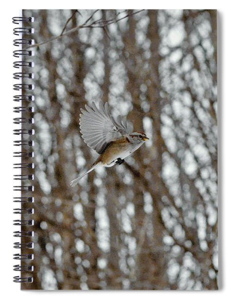 The American Tree Sparrow In-flight Spiral Notebook