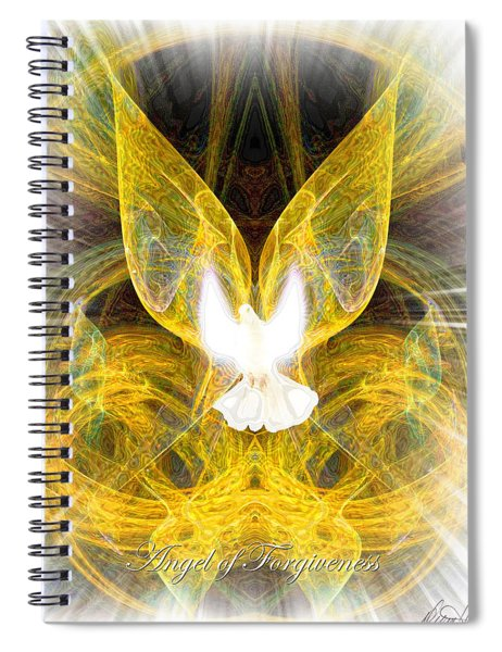 The Angel Of Forgiveness Spiral Notebook