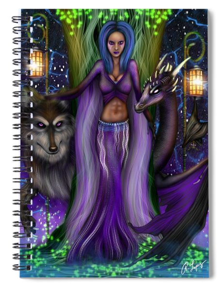 The Animal Goddess Fantasy Art Spiral Notebook