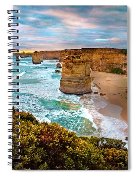 The Apostles Sunset Spiral Notebook