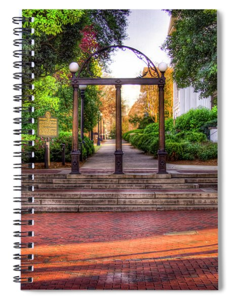 The Arch 4 University Of Georgia Arch Art Spiral Notebook
