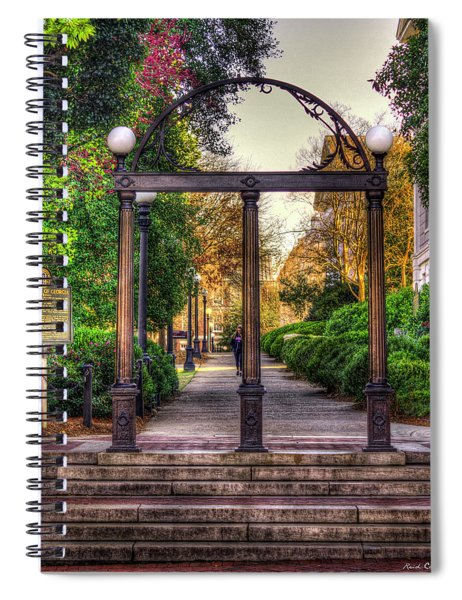 The Arch University Of Georgia Arch Art Spiral Notebook