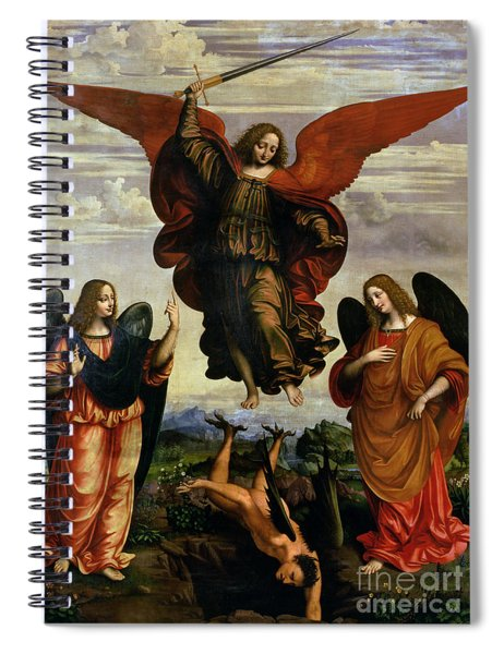 The Archangels Triumphing Over Lucifer Spiral Notebook