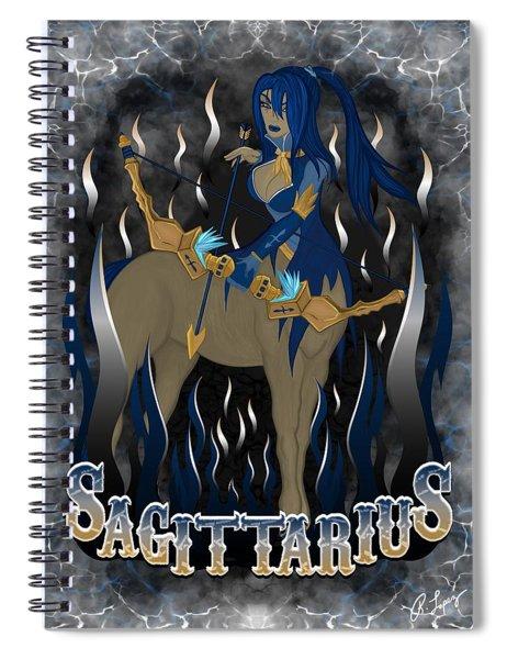 The Archer Sagittarius Spirit Spiral Notebook
