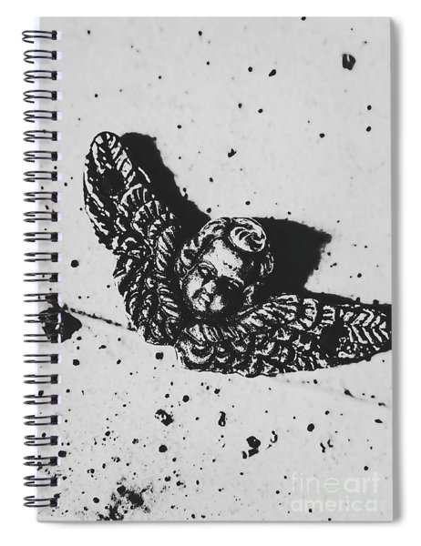 The Art Of A Vintage Angel Spiral Notebook