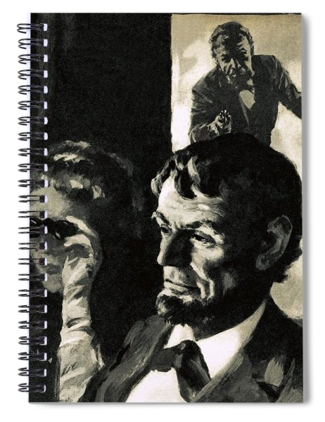 The Assassination Of Abraham Lincoln Spiral Notebook