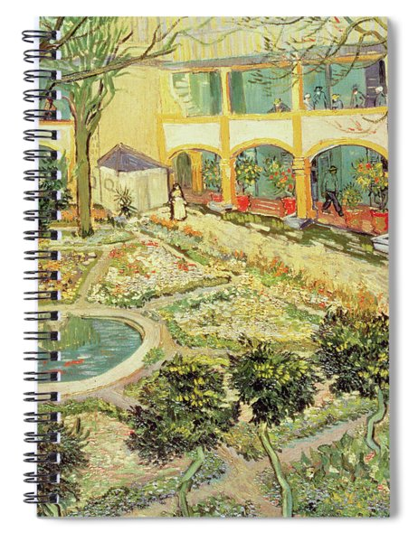 The Asylum Garden At Arles Spiral Notebook