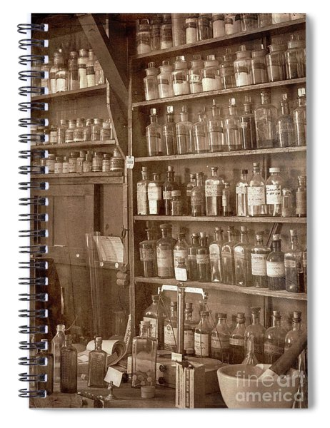 The Back Room In Sepia Spiral Notebook
