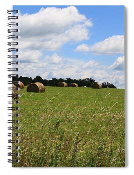 The Bales Of Summer 2 Spiral Notebook
