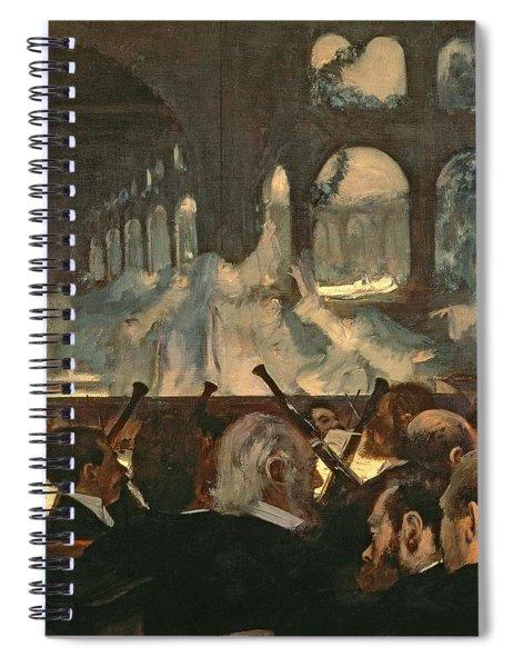 The Ballet Scene From Meyerbeer's Opera Robert Le Diable Spiral Notebook by Edgar Degas