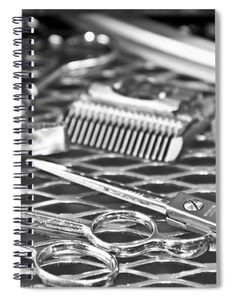 The Barber Shop 10 Bw Spiral Notebook