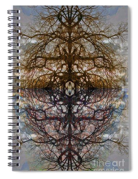 The Barking Yin Yang Spiral Notebook