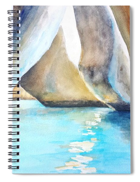 The Baths Water Cave Path Spiral Notebook