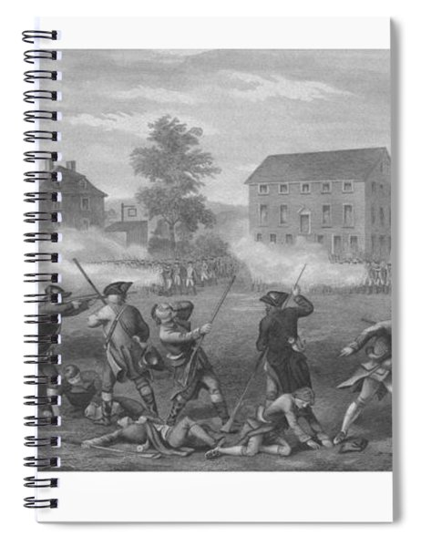 The Battle Of Lexington Spiral Notebook