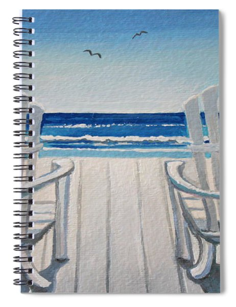 The Beach Chairs Spiral Notebook