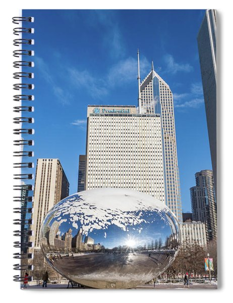 The Bean And The City Spiral Notebook