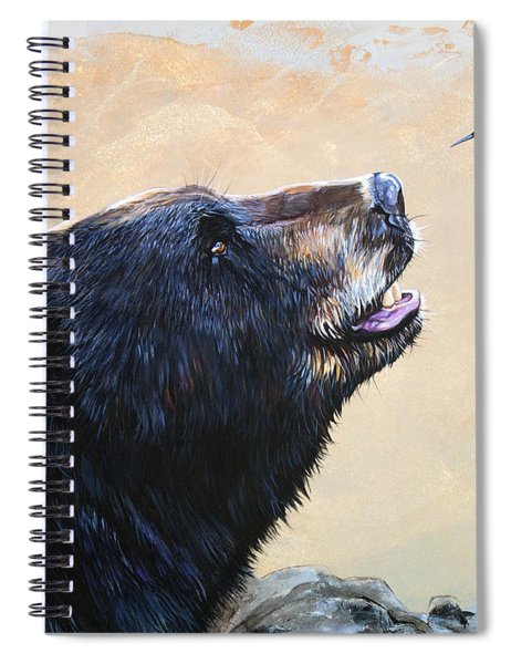 The Bear And The Hummingbird Spiral Notebook