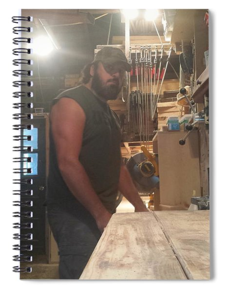 The Bearded Woodworker Spiral Notebook
