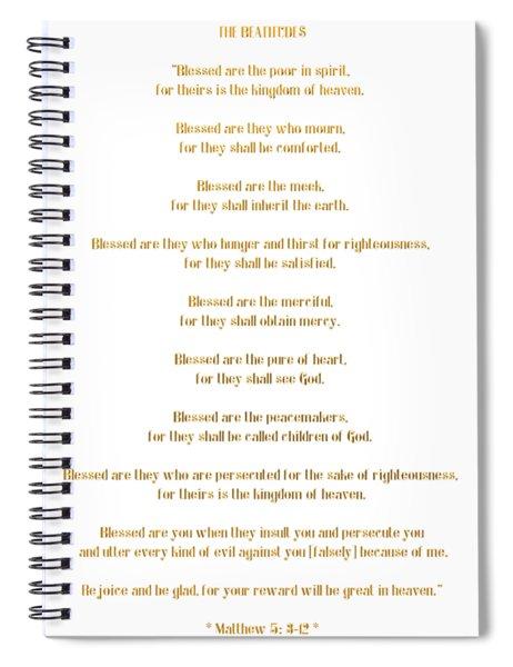 The Beatitudes Gospel Of Matthew Spiral Notebook